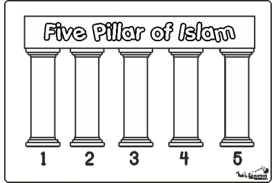 Coloring Page 5 Pillars Of Islam : Colouring Sheet 5 Pillars